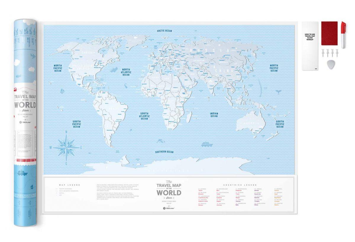 Скретч карта світу Travel Map Silver