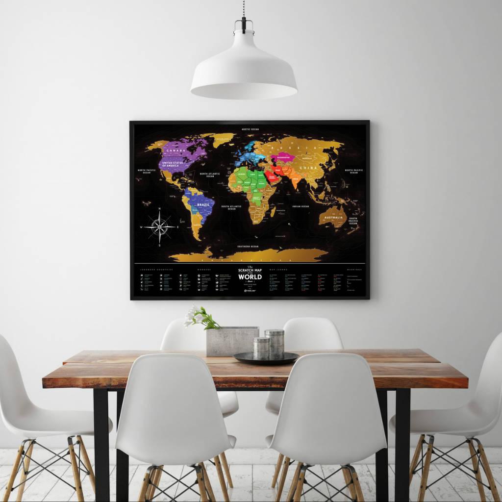 Travel Map Black