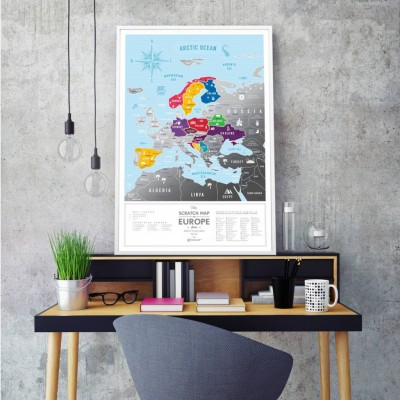 Travel Map Europe Silver