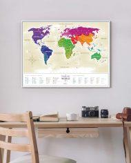 Travel Map Gold World