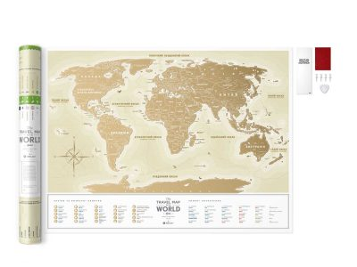 Карта світу Travel Map Gold World