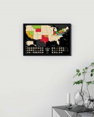 Travel Map® USA Black