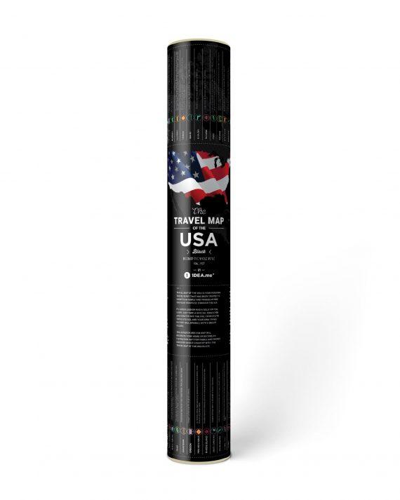 Travel Map® USA Black