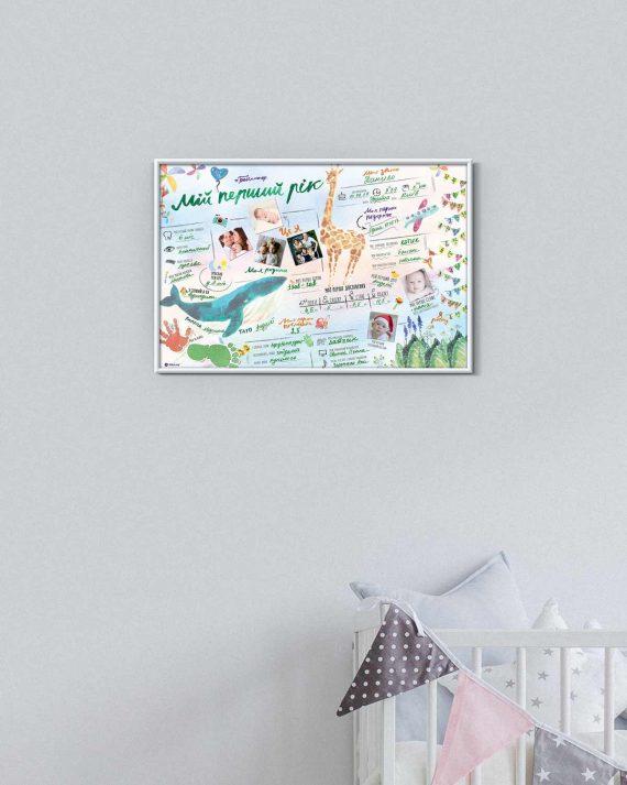 """Постер для новонародженого #Бебіпостер """"Мій перший рік"""""""