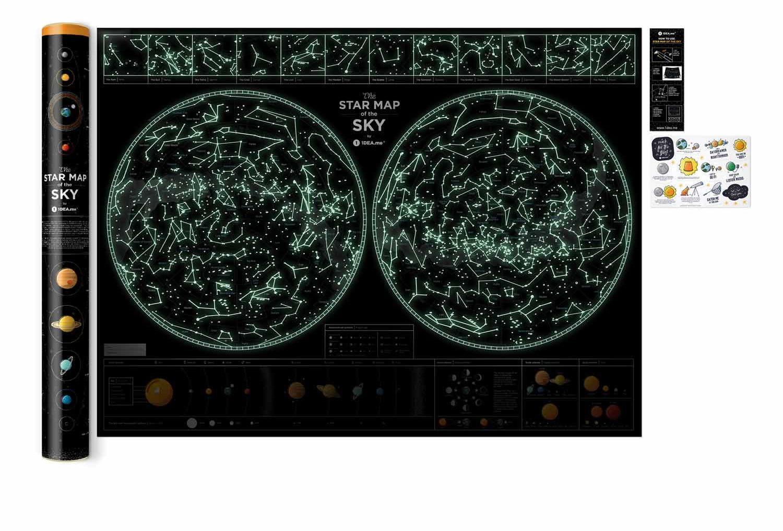 Карта зіркового неба Star map of the sky