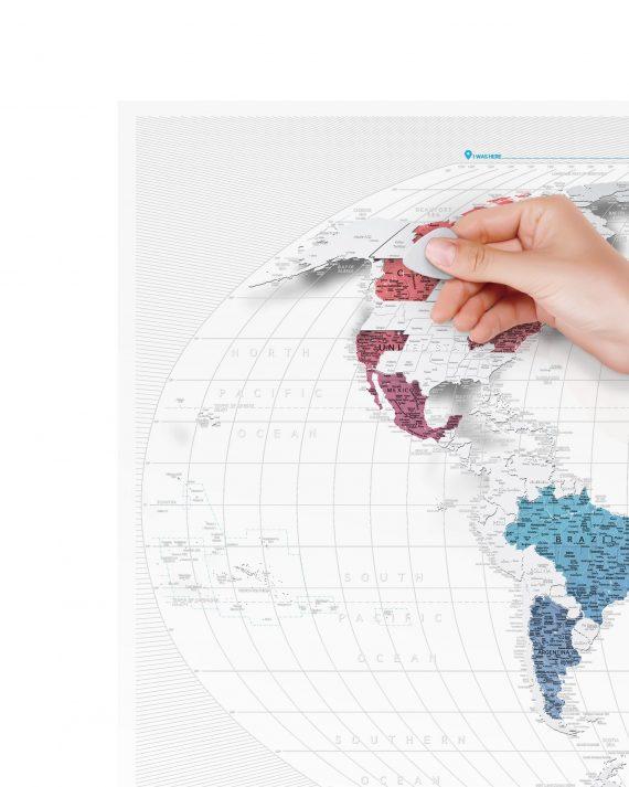 прозрачная скретч карта мира Travel Map Air World