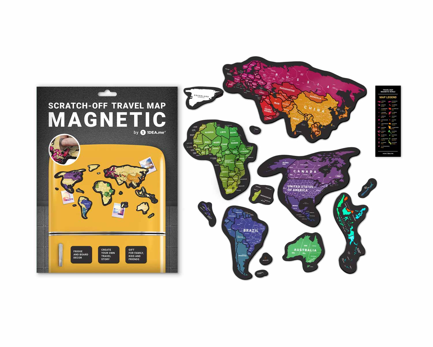 Travel Maр® MAGNETIC World