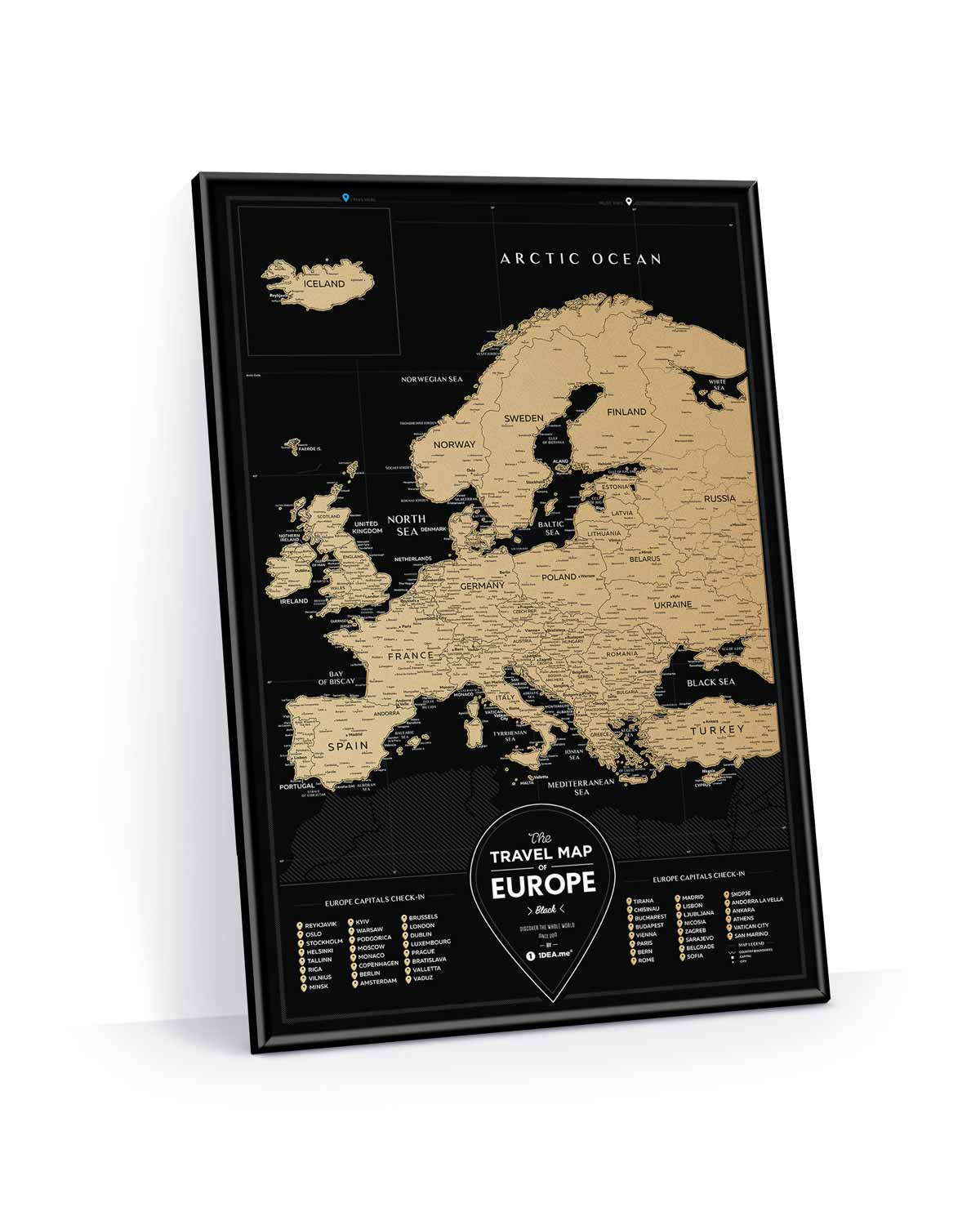 Travel Map® Black Europe