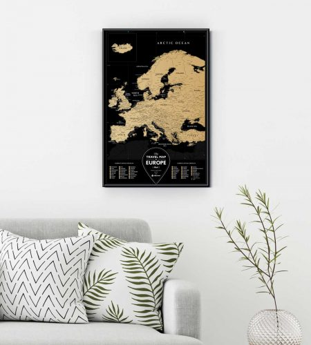 Travel Map Black Europe