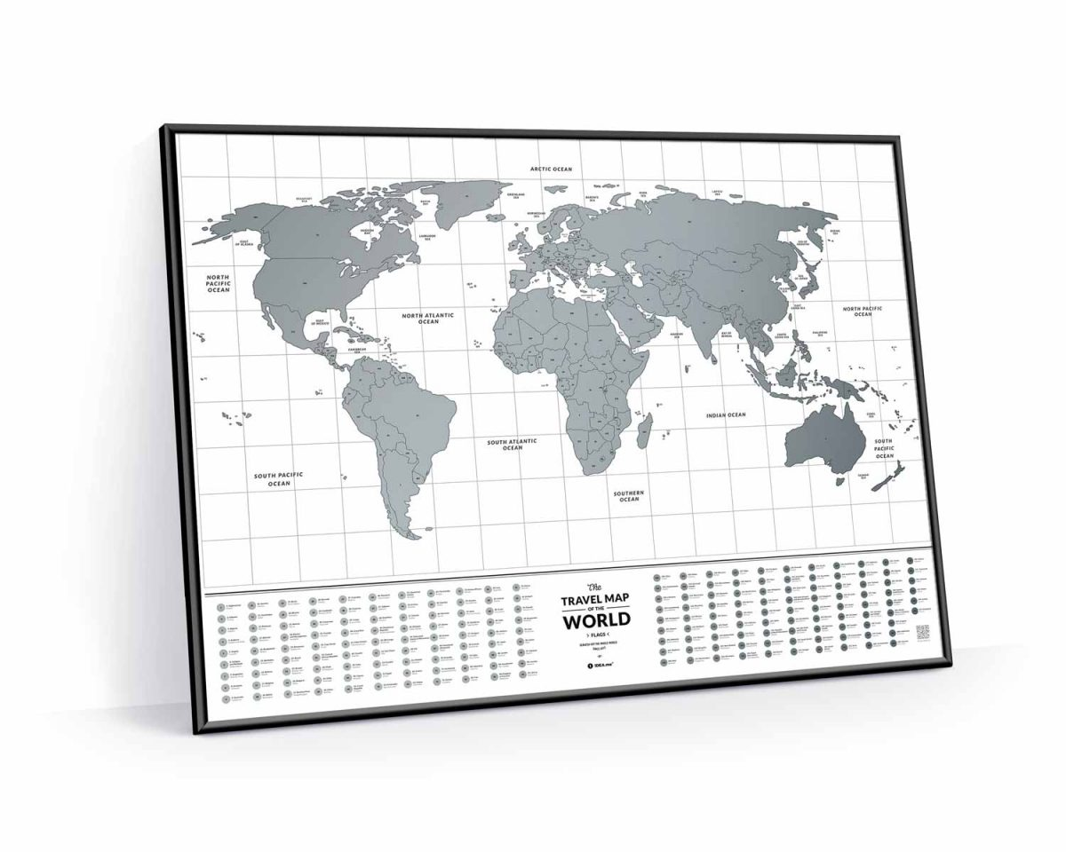 Карта мира с флагами Travel Map® Flags World