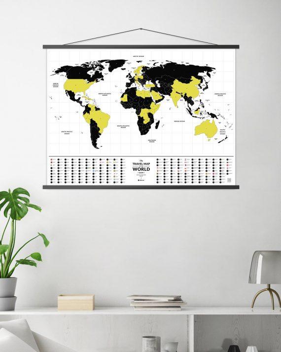 Travel map glow карта мира светится в темноте 1dea.me